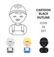 builder cartoon icon for web and vector image