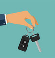 buying the car the hand holding the car key with vector image