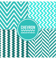 chevron seamless pattern background set blue vector image