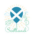 logo for travel to scotland vector image