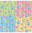 patterns of cartoon owls vector image