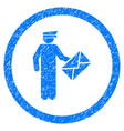 postman rounded grainy icon vector image