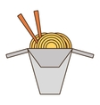 spaghetti with chopsticks isolated icon vector image