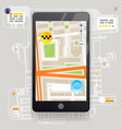 taxi phone call city street road map urban place vector image