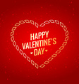 valentines day with golden heart vector image