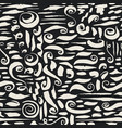 seamless pattern with ink brush strokes vector image