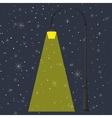 Flashlight and night vector image