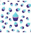 seamless pattern cupcake vector image