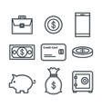 money related objects vector image