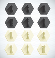Chess Piece Dimensional Icons vector image vector image