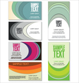 Colorful Business card set vector image