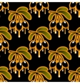 Seamless background pattern of olive oil dripping vector image