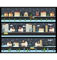 Winter cityscape in flat style vector image