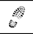 Black shoe print on white background vector image