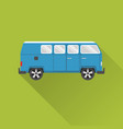 flat style retro minivan car icon vector image