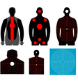 Human silhouette target vector image