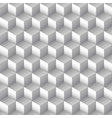 monochrome cube seamless pattern vector image