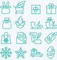 winter and Christmas time shopping and delivery vector image