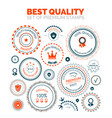 best quality set of premium stamps vector image vector image