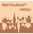 Restaurant menu background vector image vector image