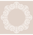 Round lace frame vector image vector image