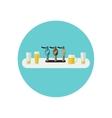 Bar counter icon vector image