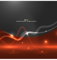 Abstract flying lights vector image