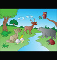 animals at jungle vector image