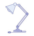 blue shading silhouette of modern desk lamp vector image