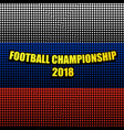 comic football championship 2018 template vector image