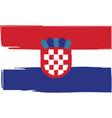 grunge croatia flag or banner vector image