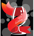 Holiday drink glass vector image
