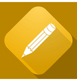 icon of Pencil with a long shadow vector image
