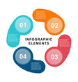infographic circle template with 4 steps parts vector image