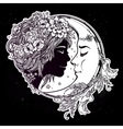Magic night fairy with a moon vector image