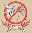 Malaria day poster vector image