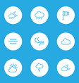 nature outlines set collection of cloud sky vector image