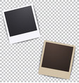 photo frame on white a plaid background vector image