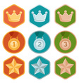 rewards icons vector image