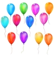 Set of Color Glossy Balloons EPS 10 vector image