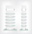 Shop glass shelves white vector image