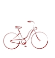 Sketched female bicycle vector image