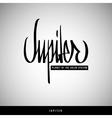 Jupiter hand lettering - handmade calligraphy vector image