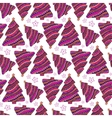 Christmas seamless pattern Purple wrapping vector image