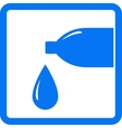 sign with drop and water bottle vector image vector image