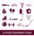 sport equipment icon set eps10 vector image