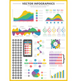 Big pack of data visualization infographics and vector image vector image