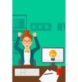Woman working at office vector image