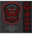 Special unit military emblem set design vector image