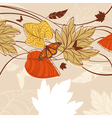 autumn design background vector image